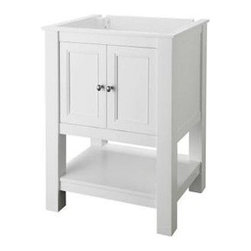 Foremost - Foremost Gazette 24 in. W x 18 in. D Vanity Cabinet Only, White (FMGAWA2418) - Foremost FMGAWA2418 Gazette 24 in. W x 18 in. D Vanity Cabinet Only, White