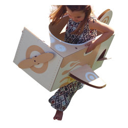 "flatout frankie - Little Aeroplane Toy - You can fly! You can fly! Pop in ""Peter Pan"" for a little inspiration and let your little one soar with this delightful apparatus. Just jump in and take off! You can also fold it flat to store and travel."