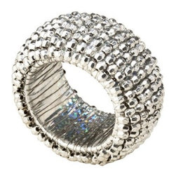 Napkin Ring - Silver Bead - Add some bling to those napkins with these sparkly silver napkin rings. These will light up the table!
