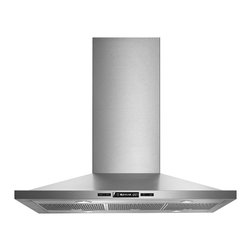 """Jenn-Air 36"""" Euro-style Island Mount Canopy Hood, Stainless/blk 