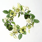 ZiaBella - Secret Garden Mini Wreath - Add a touch of gorgeous greenery to the décor with this intricate wreath that effortlessly accents a home or garden's décor.   12'' diameter Silk / polyester Imported