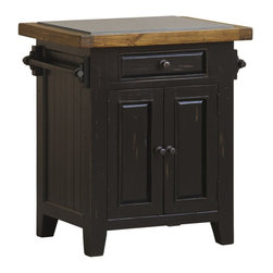 Hillsdale - Hillsdale Tuscan Retreat Granite Top Kitchen Island in Black and Oxford - Hillsdale - Kitchen Carts - 5267855W - Tuscan Retreat TM accent pieces are authentic artisan interpretations of old world and cottage furniture. Each piece is crafted from new and restored timbers to give it the appearance of a century old treasure. The finished are hand prepared from the sanding and scrapping to the final steps. Featuring solid wood throughout and old world cabinet construction. Every detail is designed to bring you years of enjoyment.