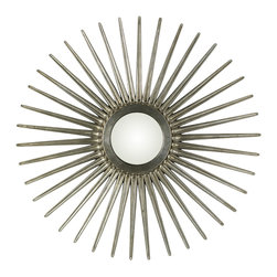 Cooper Classics - Sunburst Mirror - Silver Finish - Antique Silver Finish; Convex Mirror. 54.5 In overall Diameter
