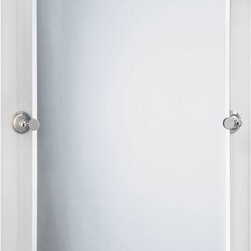 Laurel Avenue Rectangular Tilting Mirror - Polished Nickel - The Laurel Avenue Rectangular Tilting Mirror will add grace to your bath or powder room. Add complementing pieces from the Laurel Avenue Collection.