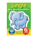 "The Original Toy Company - The Original Toy Company Kids Children Play Jungle - Piece together these 6 puzzles of appealing jungle animals. Ages 18 months plus. 2 piece puzzles. puzzle size- 5.5""x 5.5"" Made in England."