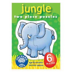 """The Original Toy Company - The Original Toy Company Kids Children Play Jungle - Piece together these 6 puzzles of appealing jungle animals. Ages 18 months plus. 2 piece puzzles. puzzle size- 5.5""""x 5.5"""" Made in England."""