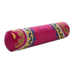 """Natori Uzbek Bolster - Everything about this stylish bolster pillow screams """"Happy!"""" to me, including the price."""