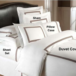 Downright - Windsor Twin Duvet Cover - -400 thread count 100% Cotton  -ultra-soft sateen  -triple braid design embroidery  -Machine wash warm, gentle cycle with like colors. Use non-chlorine bleach. Tumble dry low. Touch up with warm iron. Downright - WIND-DUV-T-CH