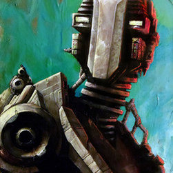 """""""Twin #1. Robot Series."""" (Original) By Joshua Davis - 1St Of A Set Of Robot Twins. Manufactured In The Year 2258 By The Ai Construct """"Mother"""" On Asteroid Outpost Lp3856 For Use As Personal Assistants To The Colony Governor And His Family."""