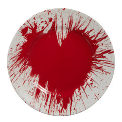 1882 Ltd. Fragile Hearts Salad Plate - This is an unconventional and unique take on a salad plate and a great way to bring some color into your dinnerware.