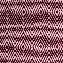 Hook & Loom Rug Company - Ashford Ruby/Natural Rug - Very eco-friendly rug, hand-woven with yarns spun from 100% recycled fiber.  Color comes from the original textiles, so no dyes are used in the making of this rug.  Made in India.