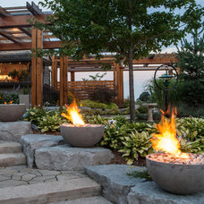Contemporary Fire Pits by GARDENFLAME