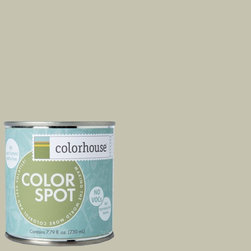ColorSpot Eggshell Interior Paint Sample, Nourish .02,  8-oz - Test color before you paint with the Colorhouse Colorspot 8-oz  paint sample. Made with real paint and in our most popular eggshell finish, Colorhouse paints are 100% acrylic with NO VOCs (volatile organic compounds), NO toxic fumes/HAPs-free, NO reproductive toxins, and NO chemical solvents. Our artist-crafted colors are designed to be easy backdrops for living.