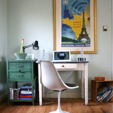 Eclectic Home Office Clutter office