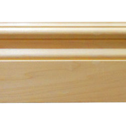 "Inviting Home - Lauderdale Baseboard Molding - poplar wood - Lauderdale baseboard made of solid poplar hardwood 5-1/2""H x 3/4""P x 8'00""L sold in 8 foot length 4 piece minimum order required The hand-carved baseboard molding has outstanding quality molding profile milled from carved from high grade kiln dried poplar hard maple red oak and cherry. Baseboard molding sold unfinished and can be easily stained painted or glazed. The installation of this molding should be treated the same manner as you would treat any wood molding: all baseboard molding should be kept in a clean and dry environment away from excessive moisture. It is recommended to acclimate wooden moldings for 5-7 days. When installing wood molding it is recommended to nail molding securely to studs and glue all mitered corners for maximum support."