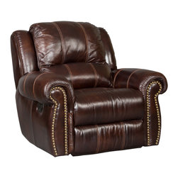 Hooker - Seven Seas Seating Saddle Brown Glider Recliner - Seven Seas Seating specializes in recliners and accent chairs for the living room and office. Chairs are primarily made with rich, soft leather but there's also a nice selection of fabrics and fabric/leather combinations. Each chair or sofa by Seven Seas Seating is hand-crafted by world-class furniture producers working to rigorous standards mandated by Seven Seas.