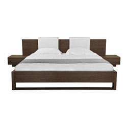 SOLD OUT!  Modloft Monroe Queen Bed and End Tables - $2,400 Est. Retail - $1,500 -