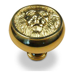 Century Hardware - Solid Brass - Knob - Polished Brass (CENT19308-3) - Solid Brass - Knob - Polished Brass (CENT19308-3)