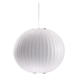 Zuo Modern Contemporary, Inc. - Geostrophic Ceiling Lamp White - Hang the lovely white orb of the Geostrophic Ceiling Lamp over your dining table or a favorite big reading chair. Curved metal spokes are covered in white silk. It will spread a warm white light to any space.