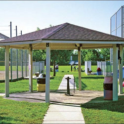 Fifthroom - 25' x 25' Laminated Wood Hexagon Orchard Pavilion -