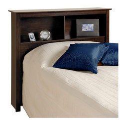 """Prepac - Fremont Bookcase Headboard - Features: -Perfect fit for twin bed frame.-Attractive profiled MDF top and moldings.-High quality, laminated composite woods construction.-Attractive Espresso laminate finish.-Fremont collection.-Gloss Finish: No.-Frame Material: Laminated composite wood / MDF.-Powder Coated Finish: No.-Hardware Material: Metal, Plastic & Wood.-Non Toxic: Yes.-Scratch Resistant: No.-Adjustable Height: No.-Wood Molding: Profiled MDF tops and moldings.-Lighting Included: No.-Reversible: No.-Media Outlet Hole: No.-Built In Outlets: No.-Adjustable Shelves: No.-Finished Back: No.-Distressed: No.-Hidden Storage: No.-Freestanding: Yes.-Frame Required: No.-Frame Compatibility: Twin.-Swatch Available: No.-Eco-Friendly: Yes.-Product Care: Wipe clean with damp cloth.-Commercial Use: Yes.-Recycled Content: No .-Country of Manufacture: Canada.Specifications: -FSC Certified: No.-EPP Compliant: No.-CPSIA or CPSC Compliant: No.-CARB Compliant: Yes.-JPMA Certified: No.-ASTM Certified: No.-ISTA 3A Certified: Yes.-PEFC Certified: No.-General Conformity Certificate: No.-Green Guard Certified : No.Dimensions: -Overall Height - Top to Bottom: 43"""".-Overall Width - Side to Side: 44.75"""".-Overall Depth - Front to Back: 11"""".-Overall Product Weight: 51 lbs.-Shelf Height: 11.25"""".-Shelf Width - Side to Side: 21.5"""".-Shelf Depth - Front to Back: 9.25"""".Assembly: -Assembly Required: Yes.-Tools Needed: Screw driver & Hammer.-Additional Parts Required: No .Warranty: -Product Warranty: 5 years."""