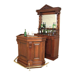 MBW Furniture - Solid Mahogany English Pub Bar - This product is finely constructed from top grade kiln-dried Solid Mahogany. Artisans use the old world method of tongue and groove and mortise and tenon joinery to create this beautiful and durable piece of furniture. Its superb hand-crafted quality will add a touch of elegance to your home.