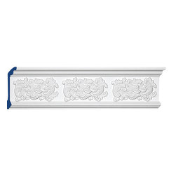 "Inviting Home - Montauk Crown Molding - Montauk decorative crown molding 7""H x 2-1/4""P x 7-1/2""F x 8'00""L molding sold in 8 foot lengths 4 piece minimum order required crown molding specifications: - outstanding quality crown molding made from high density polyurethane: environmentally friendly material is hypoallergenic and fully recyclable no CFC no PVC no formaldehyde; - front surface of this molding has extra durable and smooth surface; - crown molding is pre-primed with water-based white paint; - lightweight durable and easy to install using common woodworking tools; - metal dies were used for consistent quality and perfect part to part match for hassle free installation; - this crown molding has sharp deep and highly defined design; - matching flexible molding available; - crown molding can be finished with any quality paints; Polyurethane is a high density material--it's extremely lightweight and easy to install (and comes primed and ready to paint). It is a green material meaning its CFC and formaldehyde free. It is also moisture resistant--so it won't shrink flex or mold. What's also great about Polyurethane is that it's completely customizable and can be treated as wood (you can saw it nail it screw it and sand it). In addition our polyurethane material comes primed and ready to paint. There is a four piece minimum requirement for this molding purchase."