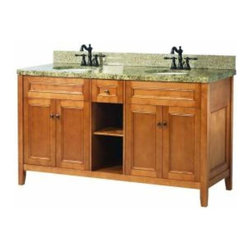 Foremost - Foremost Exhibit 60 Inch Double Vanity in Rich Cinnamon Finish - Foremost Exhibit 60 Inch Double Vanity in Rich Cinnamon Finish