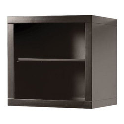 Foremost - Foremost Zen Stackable Cube with Open Shelf, Espresso (ZEEW1818) - Foremost ZEEW1818 Zen Stackable Cube with Open Shelf, Espresso