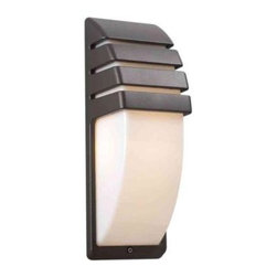 PLC Lighting - PLC Lighting Outdoor Lighting. 1-Light Outdoor Bronze Wall Sconce with Matte Opa - Shop for Lighting & Fans at The Home Depot. Contemporary Beauty is a line of quality new age fixtures that appeal to your more affluent side. This line is sure to universally please by offering fixtures with halogen, CFL, or standard incandescent bulbs. With a selection that ranges from unique wall sconces to luxuriant chandeliers, available in the lamp options you desire, Contemporary Beauty has the variety and style to ensure you will find the perfect fixture to showcase the allure of any room.
