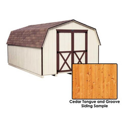 Fifthroom - Cedar Tongue & Groove Barn Style (4' sidewall) Sheds -