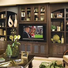 Traditional Home Theater by Canyon Creek Cabinet Company