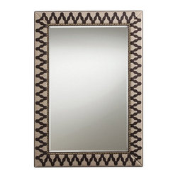 Arteriors Home - Arteriors Home Ishtar Leather/Linen/Brass Mirror - Arteriors Home DD2024 - Arteriors Home DD2024 - Arteriors Home strives to offer unique accessories, furniture and lighting with timeless appeal and a nod to latest trends. Everything starts with the product and it must be unique.Designer: Barry DixonFeatures: Chocolate Leather/ Natural Linen/ Antique Brass Studs/ Beveled Plain Mirror