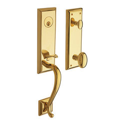 Baldwin Hardware - Baldwin Estate 85355 Stonegate Handleset, Lifetime Brass - RH Full Dummy - Finish: Lifetime Polished Brass (003)