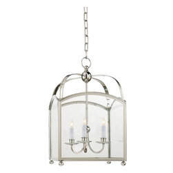 Arch Top Small Lantern - It may be time to refer to a higher power for enlightenment. This classic ceiling lantern offers four lights gracefully suspended within to illuminate your chosen path.