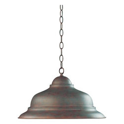Quorum International - One-Light Cobblestone Pendant - One-Light Cobblestone Pendant  - Comes with 10 feet of chain and 8 feet of wire. Quorum International - 6820-33