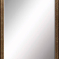 Paragon Decor - Beveled Mirror, Medium Brown, 36x48 - Mirror, Mirror, on the wall, who's the most beautiful mirror of them all? Reflect your impeccable taste with this contemporary-style mirror, which features a gorgeous simple medium brown frame and high-quality interior beveled mirror. This piece measures 41 inches wide, 2 inches deep, and 53 inches high.