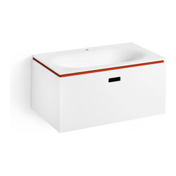 WS Bath Collections - Ciacole 8062.11 Door Unit For Washbasin - Spruce up your guest bath with this snazzy white ceramic washbasin. Italian made, it's freestanding, and you can choose from models with contrasting accent colors such as red and orange.