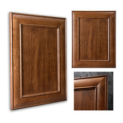 Arlington Showplace Cabinets - This is Showplace's Arlington door style in cherry featuring our Truffle stain and Casual Vintage finish. With this combination, any room in your home will experience the glowing warmth of cherry as well as a welcoming soft hue from our Truffle finish!