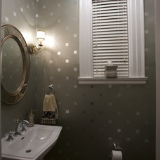 Contemporary Powder Room by Joni Spear Interior Design