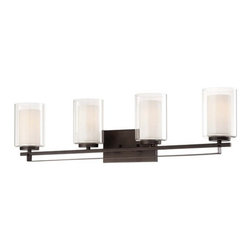 Minka Lavery - Minka Lavery 6104-172 4 Light Bathroom Vanity Light Parsons Studio Coll - Four Light Bathroom Vanity Light from the Parsons Studio CollectionFeatures: