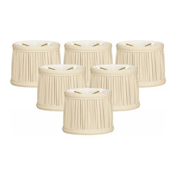 """Royal Designs, Inc"" - Gather Pleat Chandelier Shade Size 5 Size 5 - ""This shade is a part of Royal Designs, Inc. Timeless Chandelier Shade Collection and is perfect for anyone who is looking for a simple yet stunning lampshade. Royal Designs has been in the lampshade business since 1993 with their multiple shade lines that exemplify handcrafted quality and value."