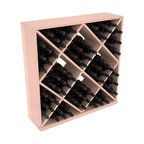 Solid Diamond Wine Storage Cube in Redwood with White Wash Stain + Satin Finish - Elegant diamond bin style bottle openings make for simple loading of your favorite wines. This solid wooden wine cube is a perfect alternative to column-style racking kits. Double your storage capacity with back-to-back units without requiring more access area. We build this rack to our industry leading standards and your satisfaction is guaranteed.