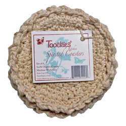 Toockies - Toockies Spirited Coasters - What's the point of coasters where the condensation just pools on top of the hard surface only to spill onto your table? That won't happen to you with these because they are made of ecofriendly fibers that absorb all liquid.