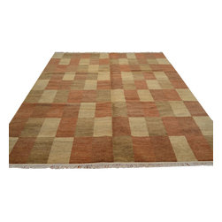 1800-Get-A-Rug - Hand Knotted Rug Natural Dyes Modern Gabbeh Sh12130 - About Modern & Contemporary