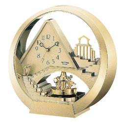 Rhythm Clocks - Stairway to Heaven Clock Gold 4RG573-R18 - At the top of each hour, the MAGIC Begins!