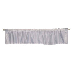 Indian Selections - Pair of White Silver Rod Pocket Top It Off Handmade Sari Valance, 80 X 20 In. - Size of each Valance: 80 Inches wide X 20 Inches drop. Sizing Note: The valance has a seam in the middle to allow for the wider length