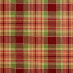 Burgundy and Green Country Plaid Upholstery Fabric By The Yard - This upholstery fabric is great for all indoor upholstery, bedding, window treatments and fabric related projects. This material combines luxury with durability. It will truly look great on any piece of furniture.