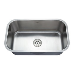 Kraus - 31 1/2 inch Undermount Single Bowl Stainless Steel Kitchen Sink Combo Set, Satin - Add an elegant touch to your kitchen with unique Kraus kitchen combo