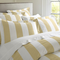 PB Classic Stripe 400-Thread-Count Duvet Cover, Honeycomb - These bold stripes will lend a preppy air to your bedroom. Pair the yellow with light gray walls for a fresh, clean look.